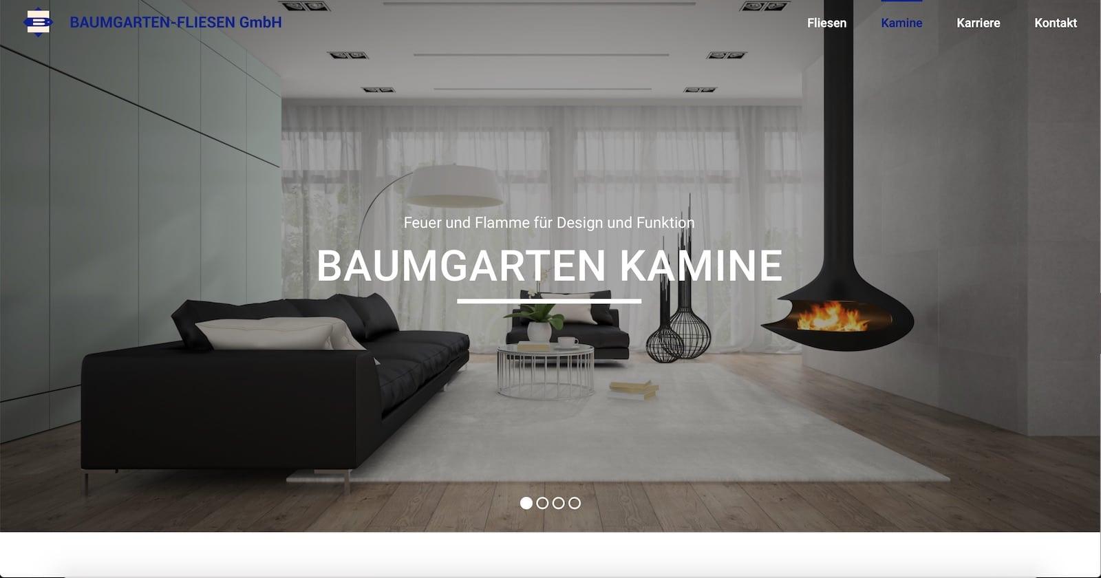 Handwerker Webseite Fliesenleger Baumgarten