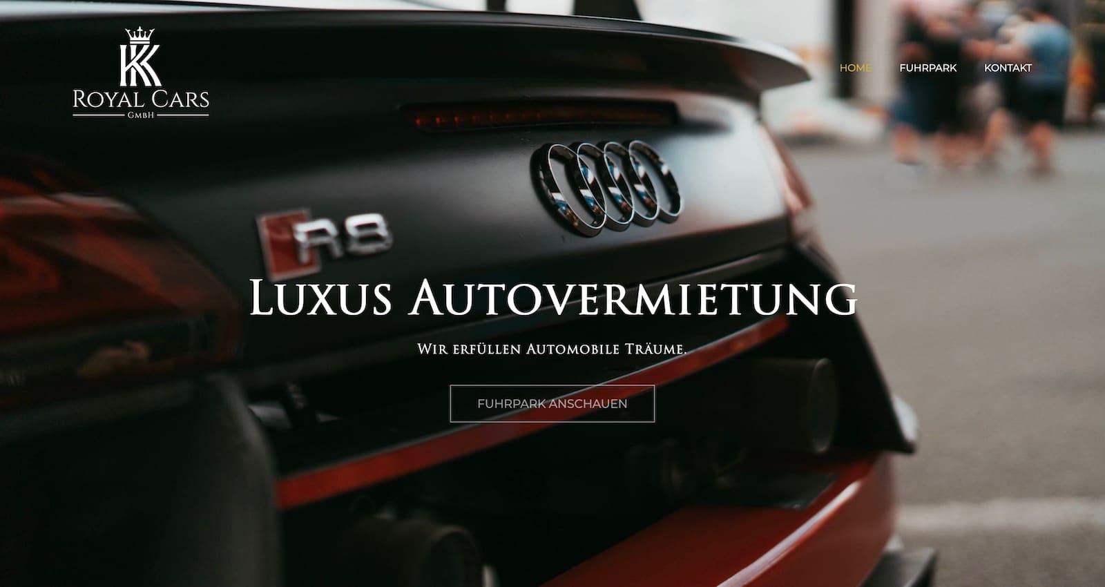 Webseite für Auto-Vermietung erstellen lassen